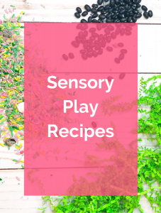 Sensory play recipes for materials such as oobleck, play dough, cloud dough, slime and more. Great to make at home or in the classroom.