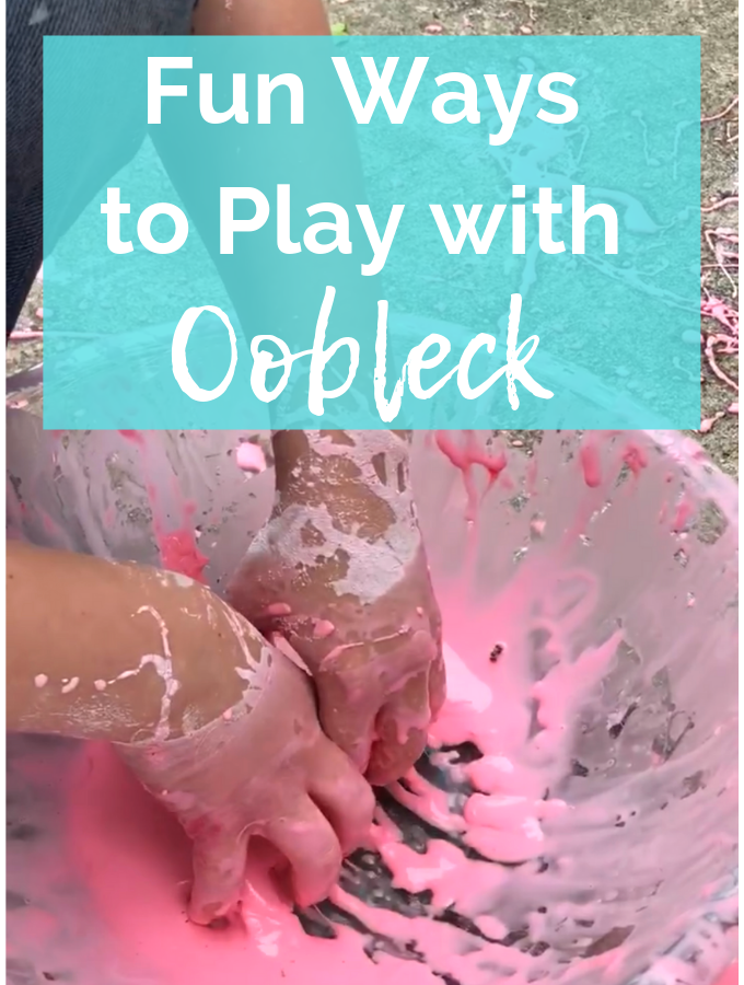 A list of oobleck activities for sensory play with kids. From glow in the dark oobleck to fun crafts with oobleck, there is something for everyone.
