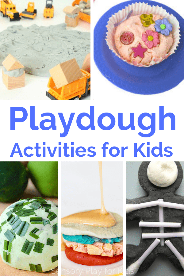These playdough activities are sure to please kids of any age. From fun playdough recipes, to engaging invitations to play, and printable playdough mats. #sensoryplay #sensoryplayforkids #kidsactivities #preschool #spd #sensoryprocessing #playdough #playdoughactivities #parenting